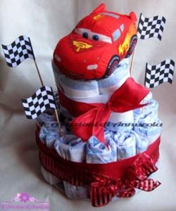 La foto del giorno: la torta pannolini di Cars di Anna