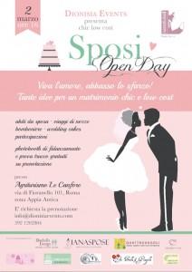 Organizzare matrimoni  chic low cost: Open day sposi con una sorpresa per voi