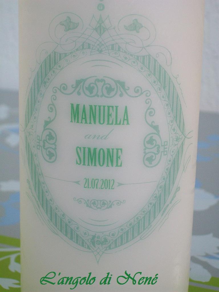 La foto del giorno: la candela personalizzata di Antonella