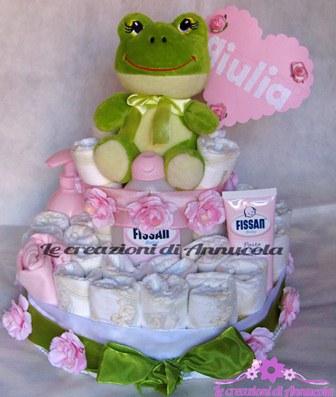 La foto del giorno: la torta pannolini Rana di Anna