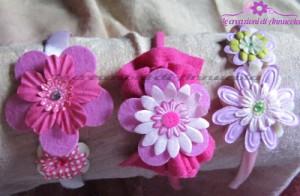 La foto del giorno: i cerchietti con fiorellini di Anna