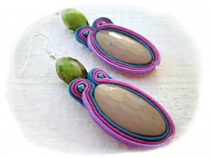 La foto del giorno: gli orecchini realizzati con la tecnica del Soutache da Valentina