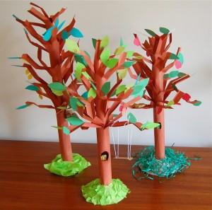 alberi di carta