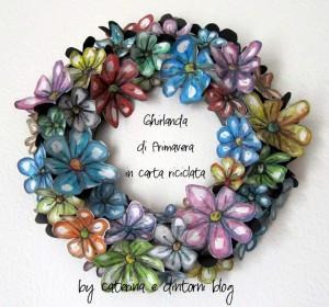 I vostri tutorial: come dipingere i fiori di carta e realizzare una ghirlanda