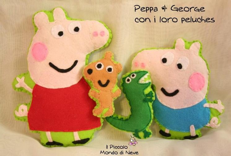 La foto del giorno: i pupazzetti di Peppa Pig realizzati da Alice
