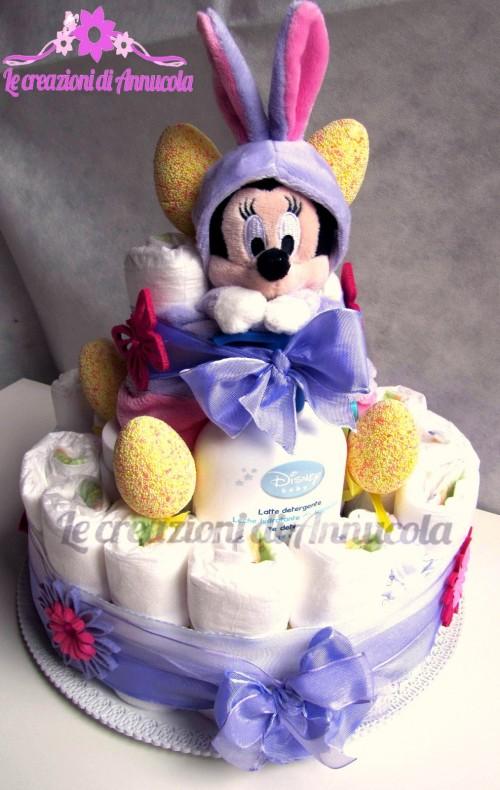 La foto del giorno: la torta pannolini Minnie di Anna