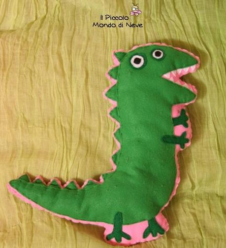 La foto del giorno: il dinosauro di George realizzato da Alice