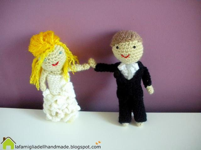 La foto del giorno: gli sposini amigurumi di Cristina