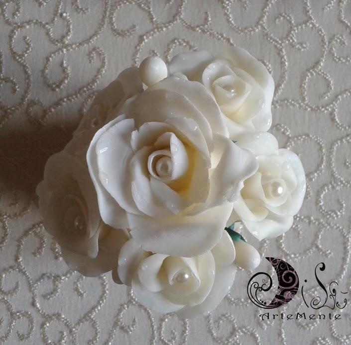Vaso rose bianco in porcellana fredda 2