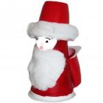 La foto del giorno:riciclare un vasetto di yogurt per realizzare un Babbo Natale
