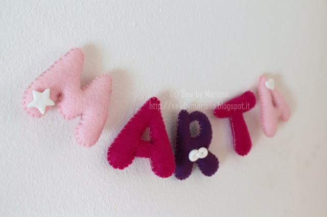 La foto del giorno: le lettere in feltro di Marissa