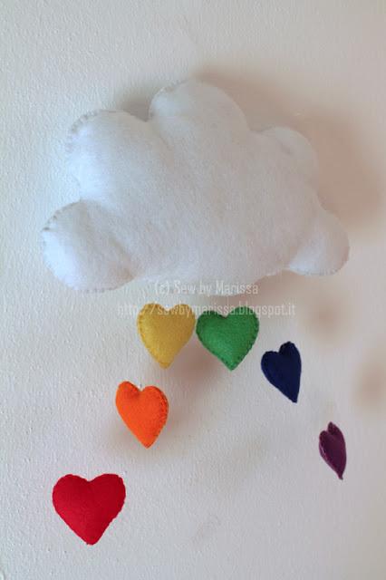 La foto del giorno: la nuvoletta in feltro di Marissa