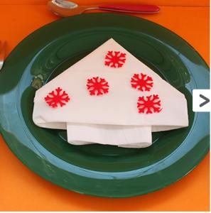 I vostri tutorial: come piegare i tovaglioli a forma di albero di Natale