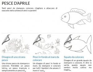 La foto del giorno: pesci d'aprile da stampare e colorare