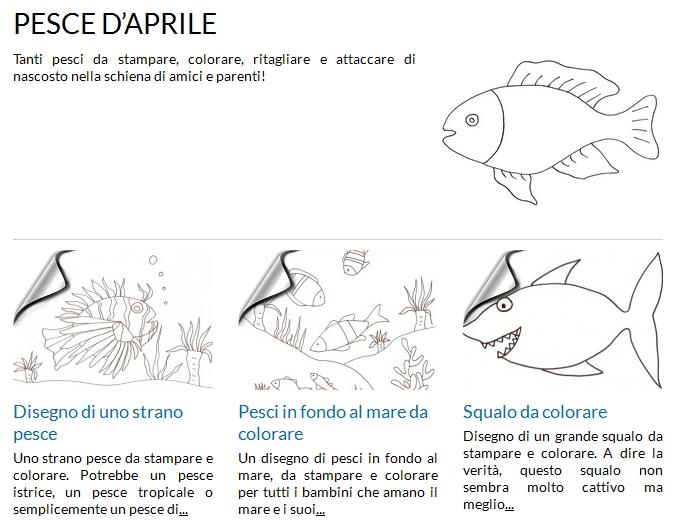 La foto del giorno pesci d 39 aprile da stampare e colorare for Immagini da colorare pesci