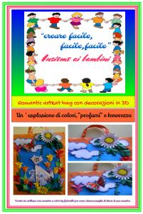 Creare con i bambini: Borse con decorazioni 3D