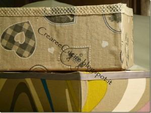 scatole rivestite di stoffa