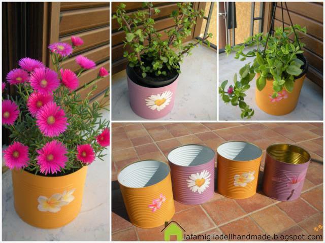 La foto del giorno: i vasi colorati e riciclosi di Cristina