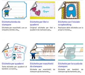 Etichette per quaderni e libri, pronte da stampare