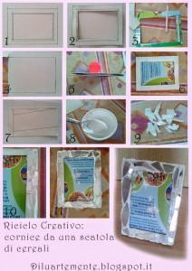 Il tutorial del giorno: riciclare una scatola di cereali e realizzare una cornice