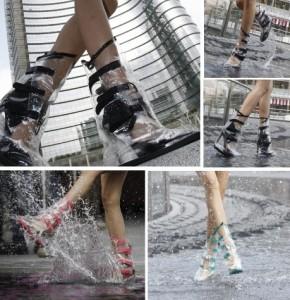 Con i copriscarpe RainUP salta dentro le pozzanghere per sorridere anche nei giorni di pioggia