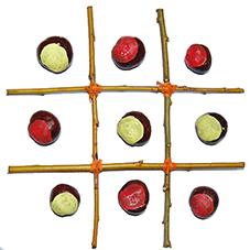 Il tutorial del giorno: Il gioco del tris con le castagne