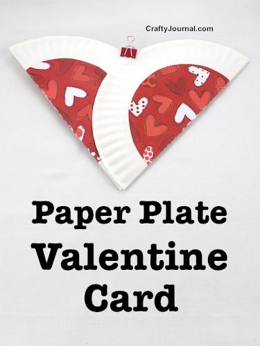 Card di san valentino con i piatti