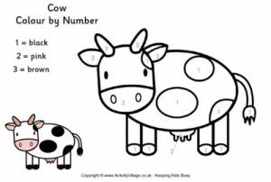 mucca da colorare