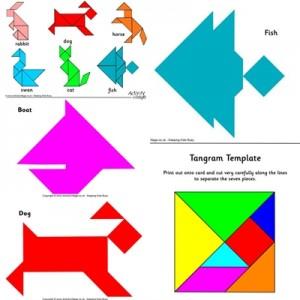 collage tangram