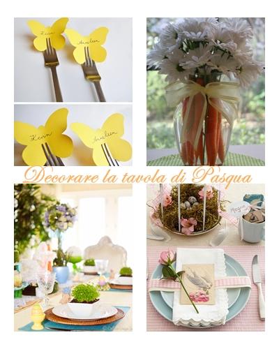 collage tavola di Pasqua