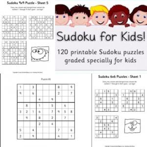 24 schede di Sudoku per bambini da stampare