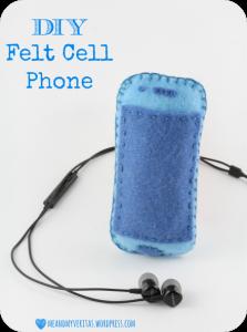 Porta cellulare in feltro: tutorial free