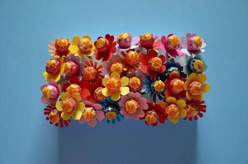 fiori con chupachupa