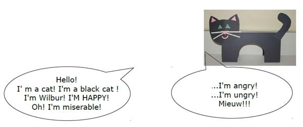 gatto di carta