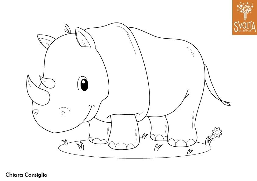 Disegni da colorare gli animali della savana for Disegni da colorare animali della foresta