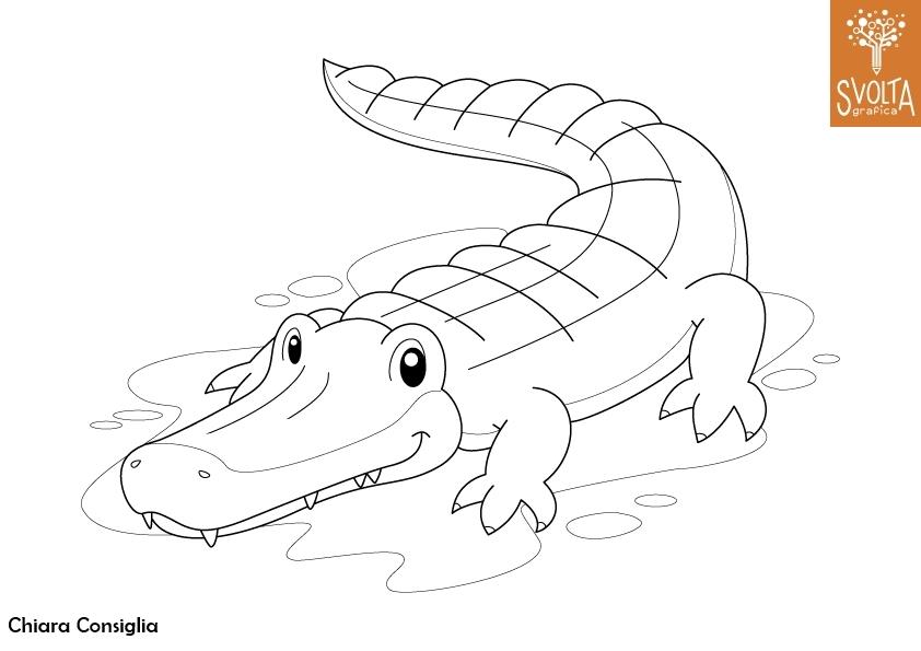 Disegni da colorare gli animali della savana for Immagini di animali marini da stampare
