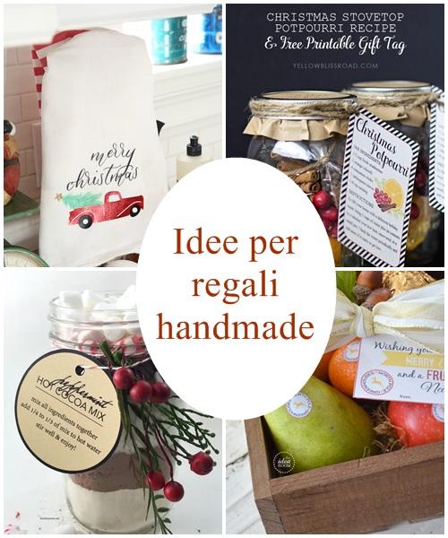 Idee per regali di natale handmade for Idee per regali