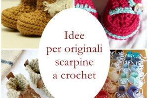 Idee per delle originali scarpine da bebè a crochet