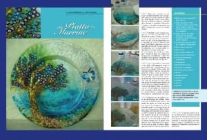 Piatti decorati a decoupage: idee e progetti di Letizia Barbieri