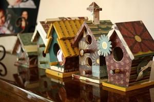 Come decorare delle casette per gli uccellini