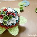 Bouquet di fiori di carta