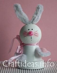 Come realizzare un coniglietto di Pasqua. Idea da fare anche con i bambini!!!