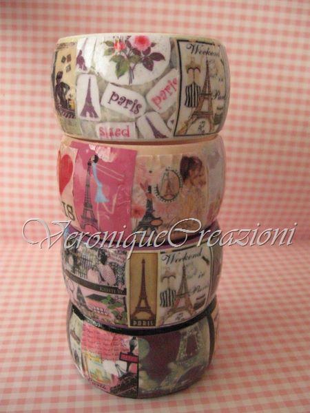 Bangles decorati a decoupage