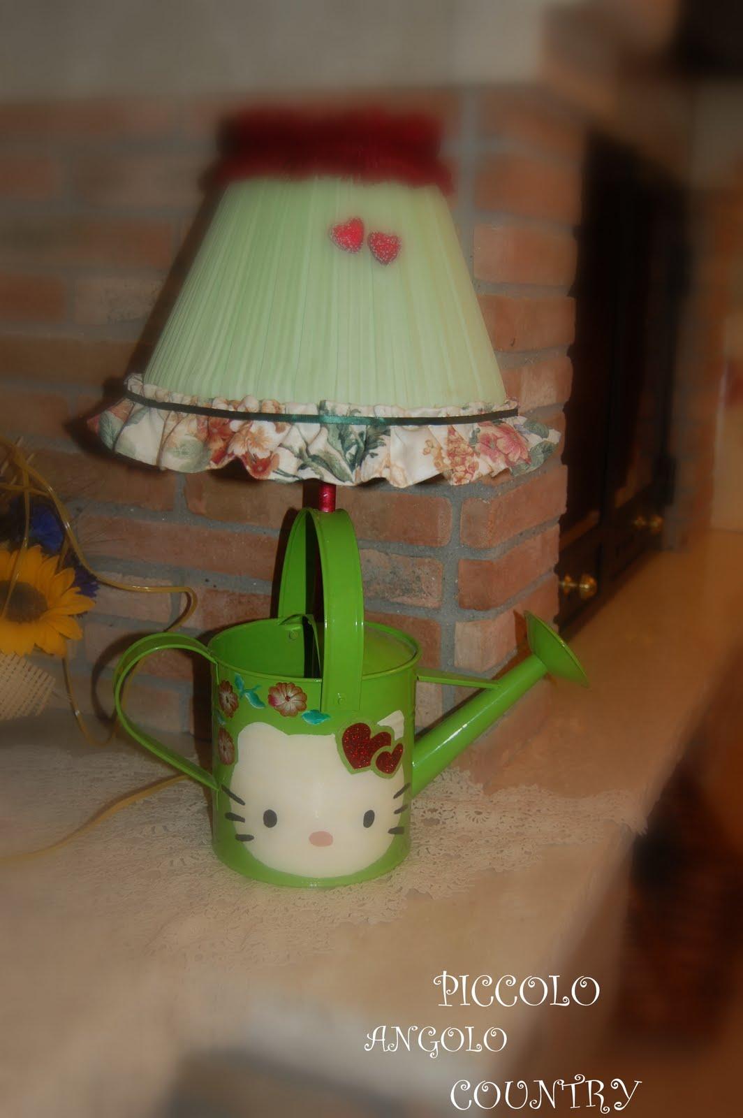 Lampade country: le creazioni di Alessandra