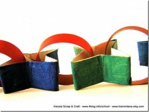 Decorazione per le occasioni speciali, con stelle di cartone riciclato