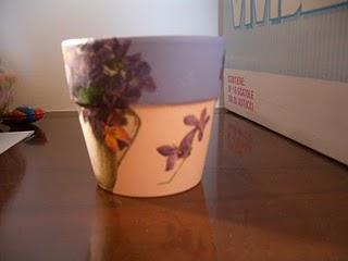 Idea per un vaso a decoupage