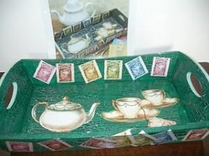 Vassoio cracklè tea