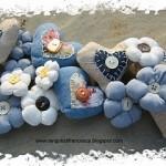 cuori e fiori di stoffa