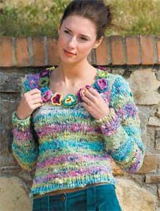 Come realizzare un maglione da donna con fiori all'uncinetto: il tutorial